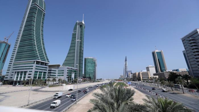 FILE PHOTO: Bahrain Financial Harbour (L) and Bahrain World Trade Center are are seen in diplomatic area in Manama, Bahrain, February 28, 2018. Picture taken February 28, 2018. REUTERS/Hamad I Mohammed/File Photo