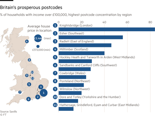 Where Britain's wealthiest live | Financial Times