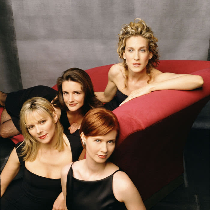 Editorial use only. No book cover usage. Mandatory Credit: Photo by Norman Jean Roy/Hbo/Darren Star Prods/Kobal/Shutterstock (5886159m) Kim Cattrall, Kristin Davis, Cynthia Nixon, Sarah Jessica Parker Sex and The City - 1998-2004 Hbo/Darren Star Productions USA Television