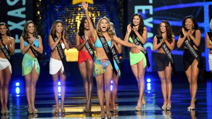 5e9682ca0d Cover-up girls  Miss America pageants will no longer have a bikini round ©  Reuters