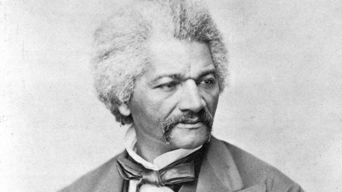 In this photo provided by the Library of Congress, abolitionist Frederick Douglass is facing right, seated for a head-and-shoulders portrait at an unknown location. The specific date is unknown, but likely circa 1850-1860. (Library of Congress via AP)