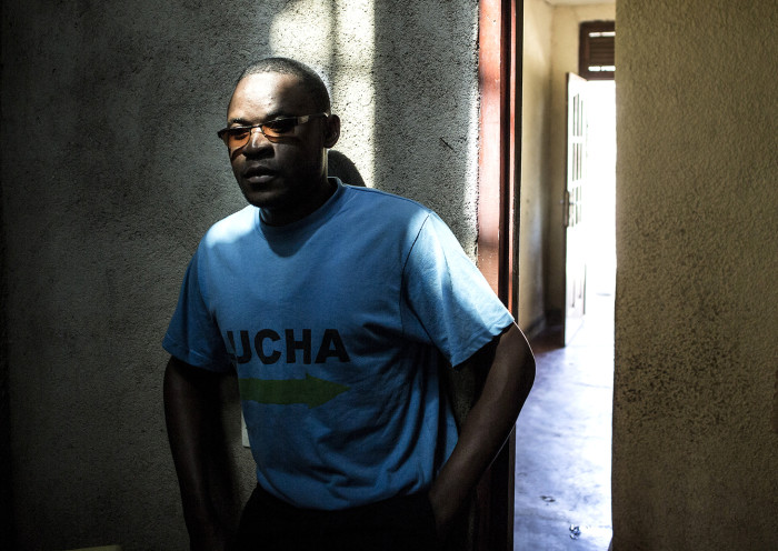 Clovis Mutsuva(25), a member of the Congolese activist group