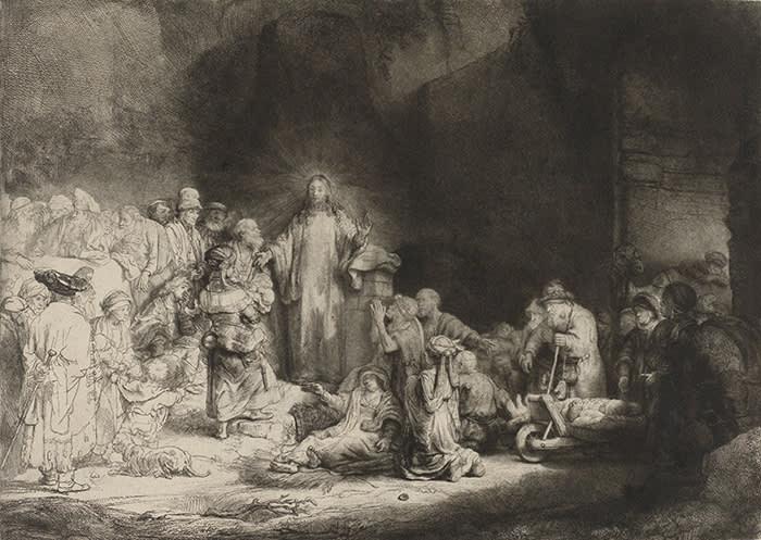 43. Rembrandt van Rijn, De predikende Christus, ca. 1646 - ca. 1650. Legaat van de heer en mevrouw De Bruijn-van der Leeuw