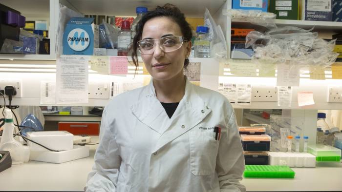 Dr Mira Kassouf at the Weathall Institute of Molecular Medicine in Oxford. 19/6/19 Photo Tom Pilston.