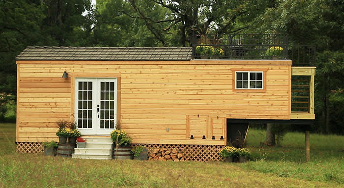 A home featured in the US reality TV programme 'Tiny House Nation': living big in a tiny home