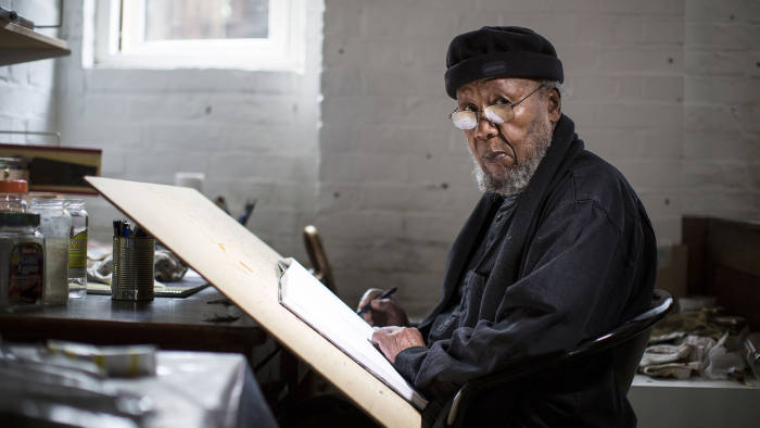 Ibrahim el-Salahi is a Sudanese artist painter and former politician and diplomat. © David Levene / eyevine Contact eyevine for more information about using this image: T: +44 (0) 20 8709 8709 E: info@eyevine.com http:///www.eyevine.com