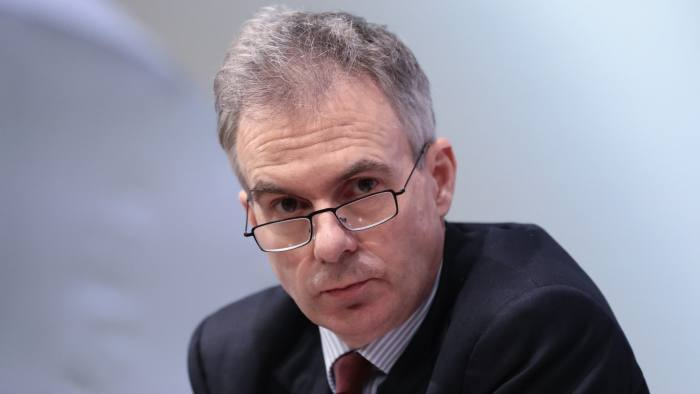 Ben Broadbent, deputy governor for monetary policy at the Bank of England (BOE), looks on during the bank's quarterly inflation report news conference in the City of London, U.K., on Thursday, Feb. 2, 2017. The Bank of England upgraded its forecasts for the economy for the second time since the Brexit vote and revealed that some policy makers have become more concerned about accelerating inflation. Photographer: Simon Dawson/Bloomberg