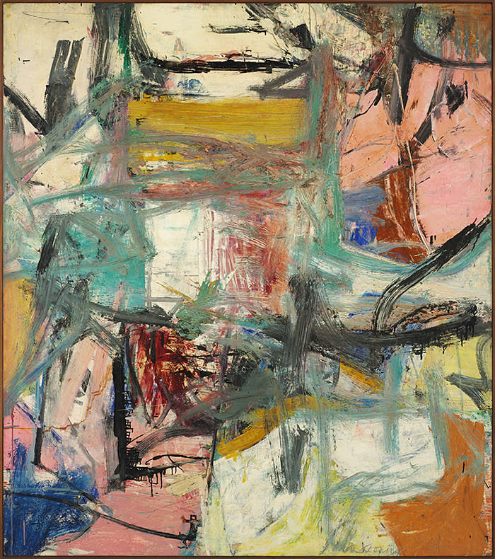 Willem de Kooning, January 1st, 1956 oil on canvas 78 ¼ x 69 inches (199 x 175 cm) © 2018 The Willem de Kooning Foundation / Artists Rights Society (ARS), New York Photo: Tim Nighswander/Imaging4Art.com Courtesy: Glenstone Museum