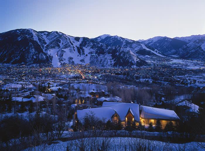 United States, Colorado, Aspen, Rocky Mountains, Aspen Mountain (C) Hans Peter Huber / 4Corners
