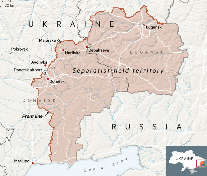 Ukraine separatists map