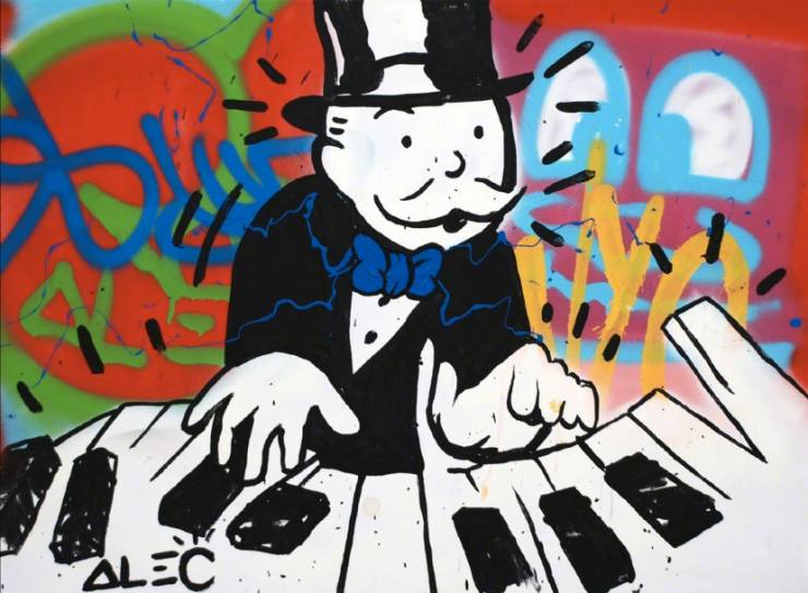 On street art and Monopoly money