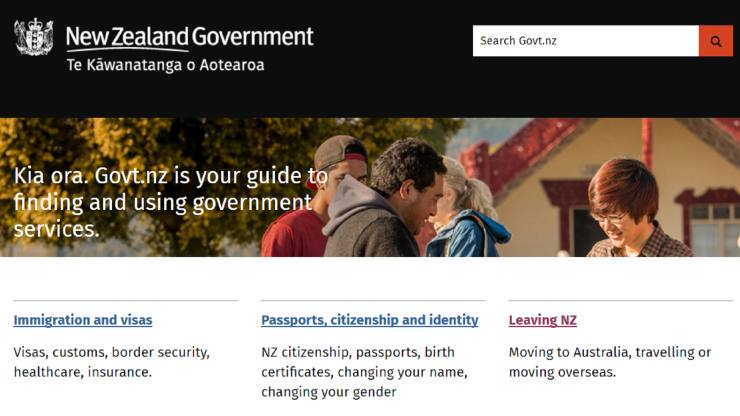 NZ govt homepage featured image