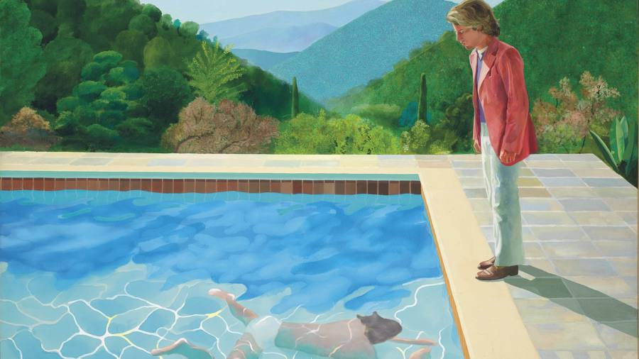 Hockney painting sets new record for living artist