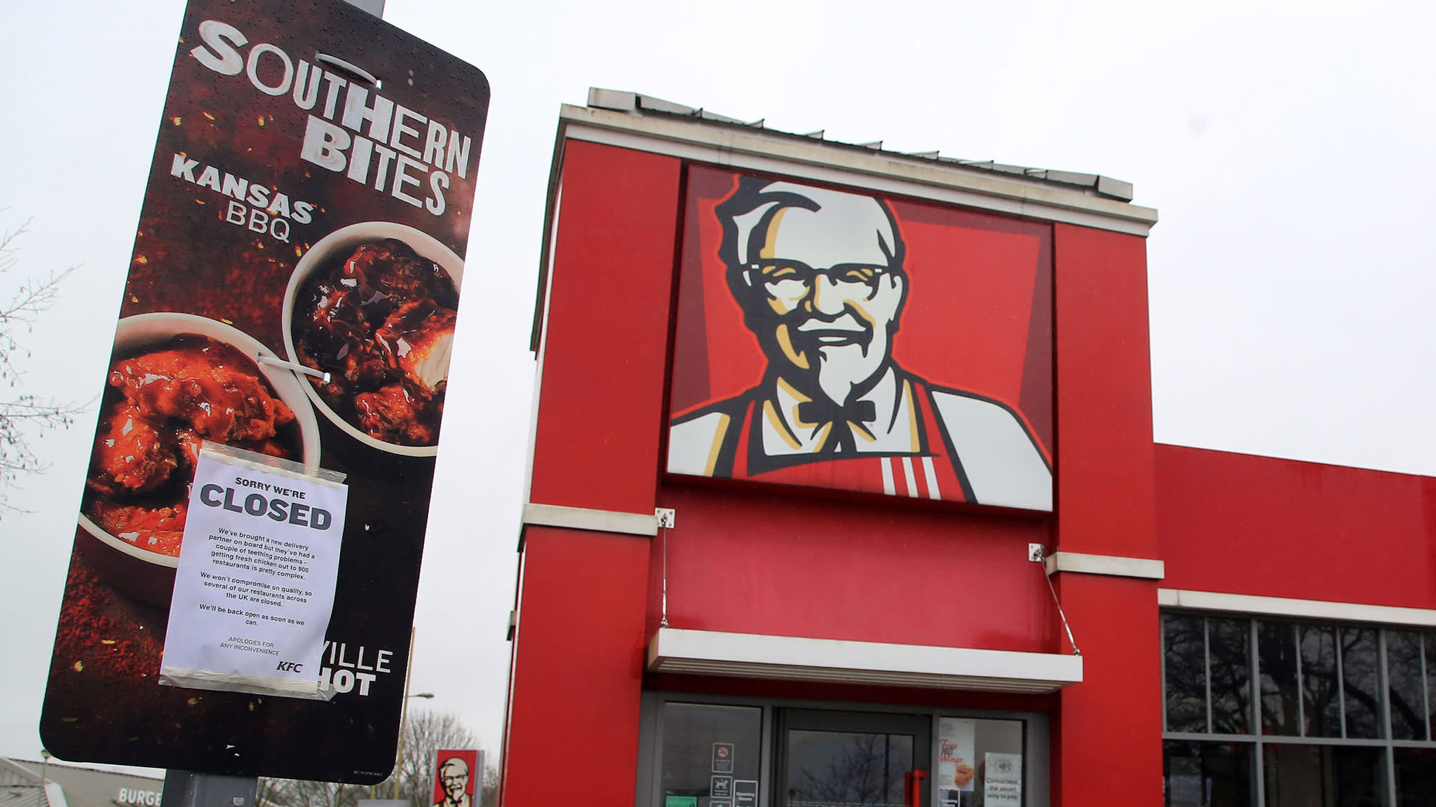 Chicken shortage shuts majority of KFC branches in UK
