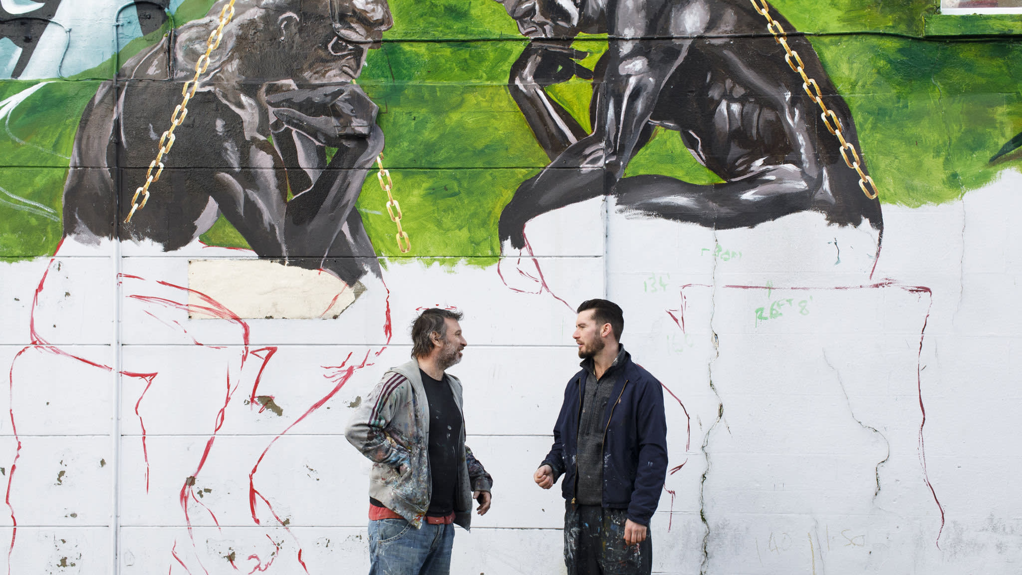 The muralists keeping peace in Belfast's no man's land