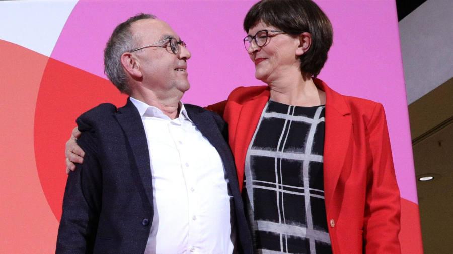 Blow to Merkel as leftwingers win SPD leadership