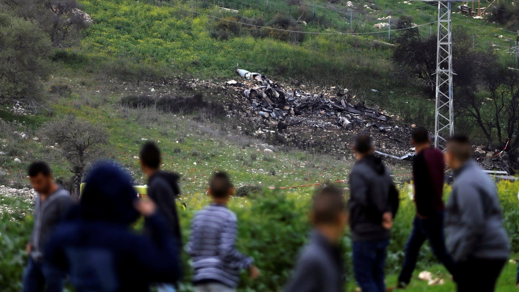 Israeli fighter jet brought down amid raid on Syria