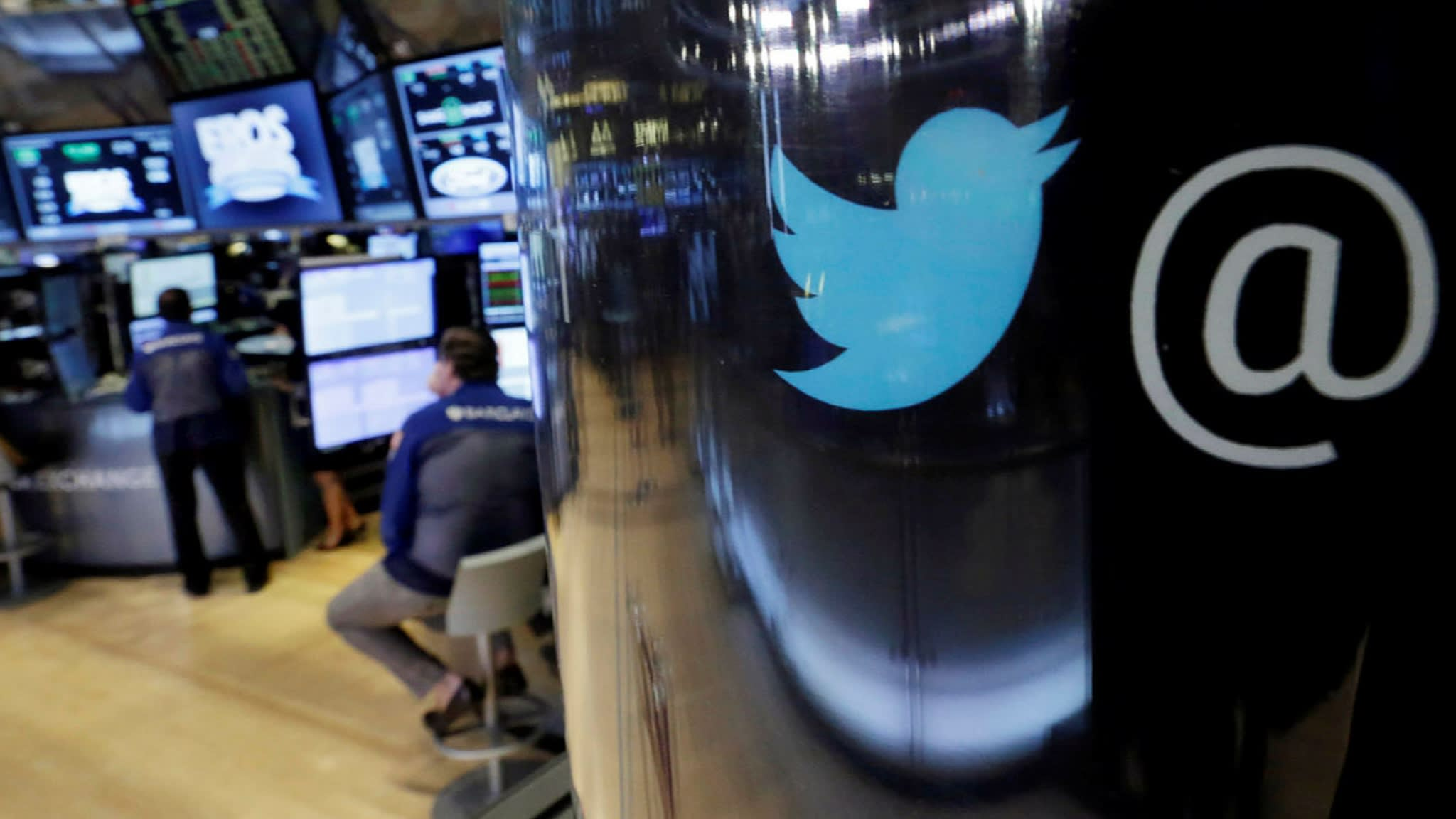 Twitter shares drop as much as 20% after fall in monthly usage