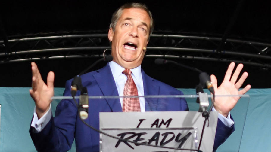 Nigel Farage sets out terms for election pact with Boris Johnson