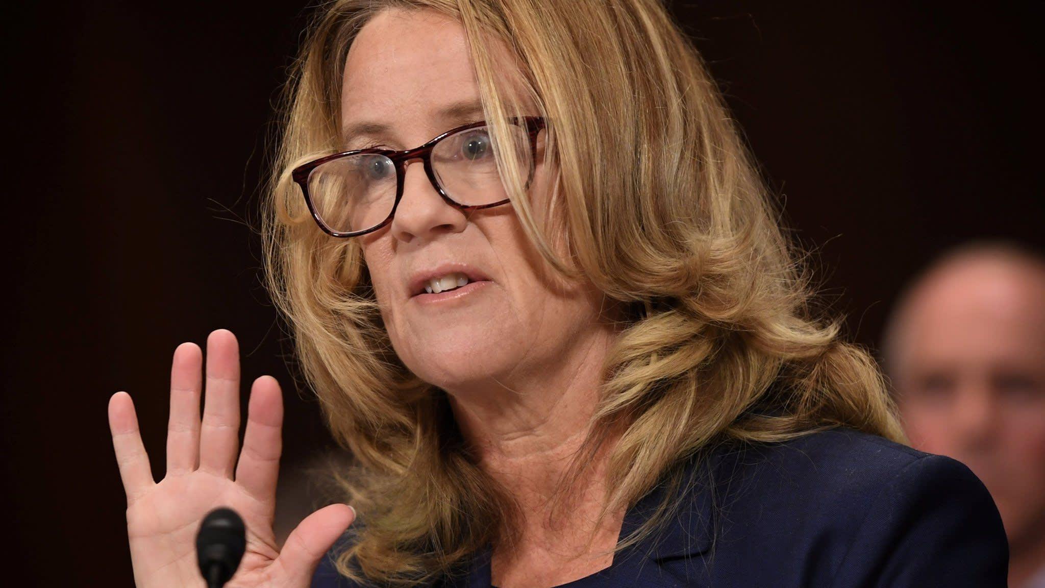Kavanaugh accuser '100% certain' Supreme Court nominee  assaulted her