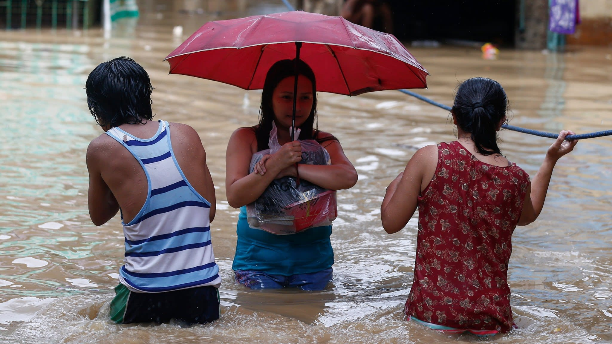 At least 12 dead as super typhoon hits Philippines