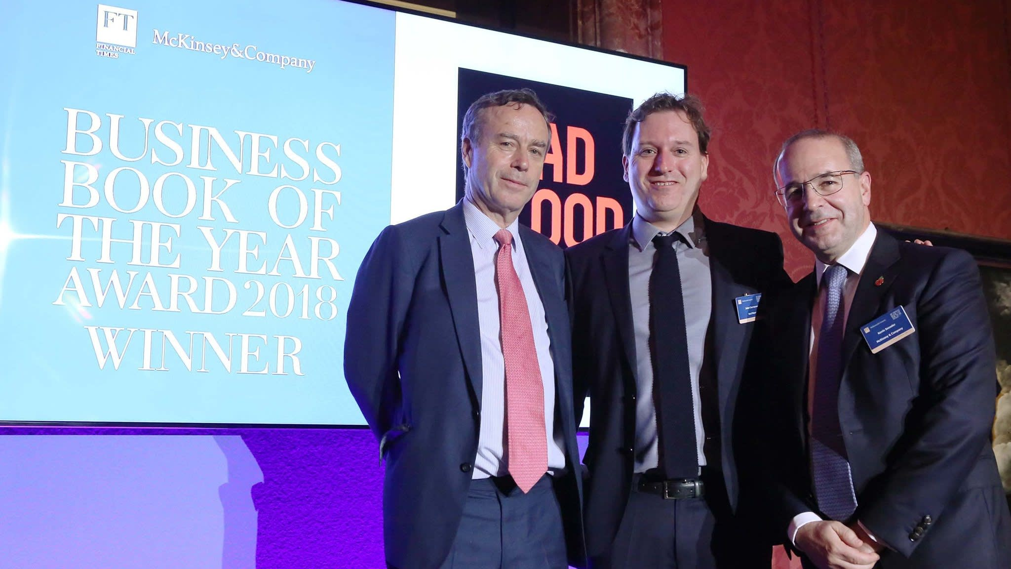 'Bad Blood' wins the FT and McKinsey Business Book of 2018