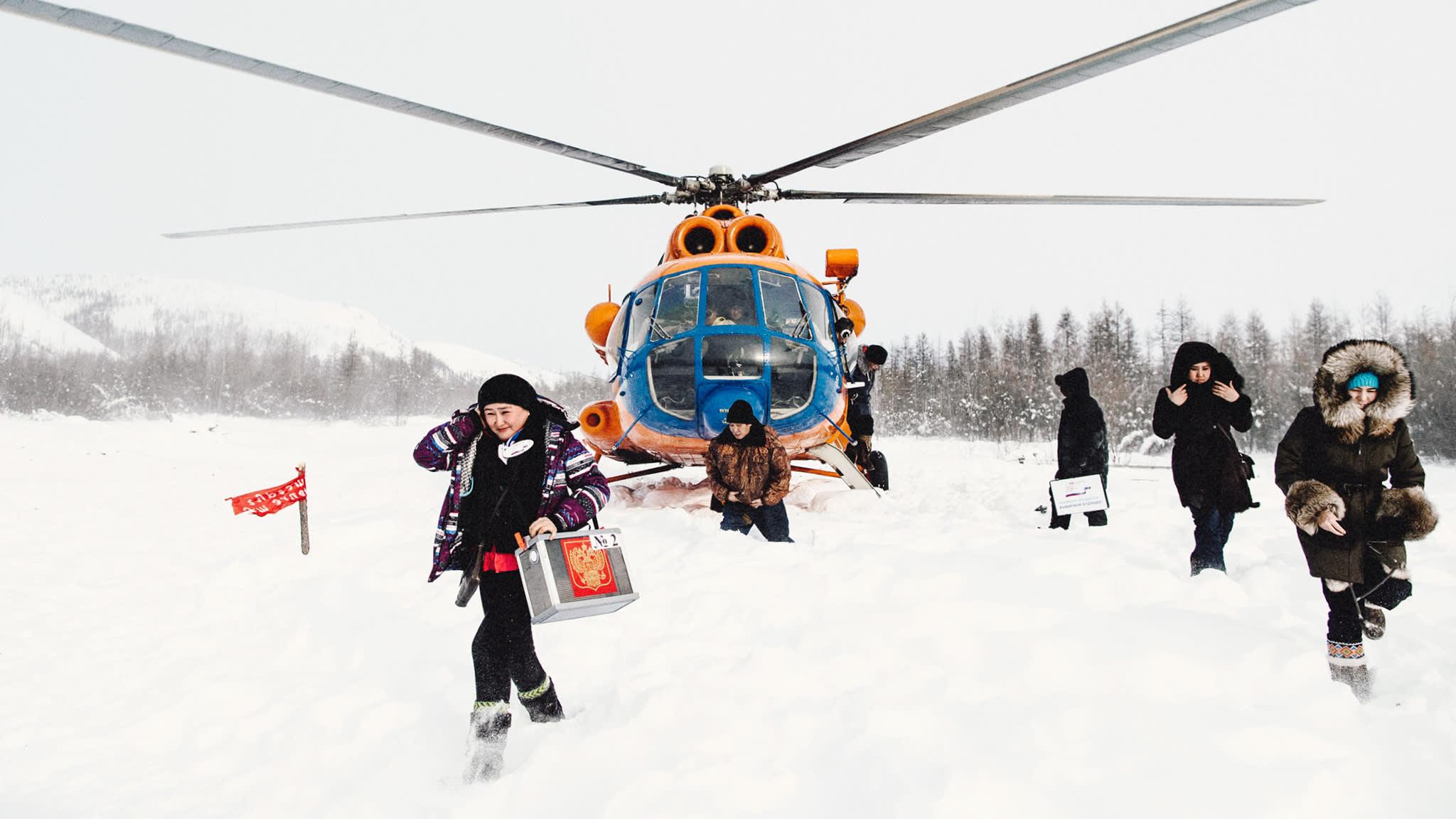 Russian elections: how Putin reaches voters at the end of the earth