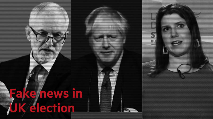 Dodgy data, doctored videos and charts: how fake news is influencing the UK election