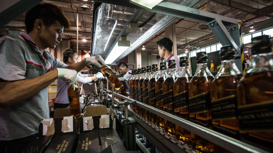 Diageo warns of up to £200m profit hit from coronavirus outbreak