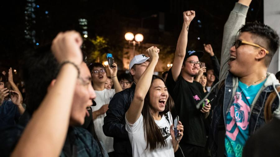 Hong Kong voters propel pro-democracy candidates to landslide win