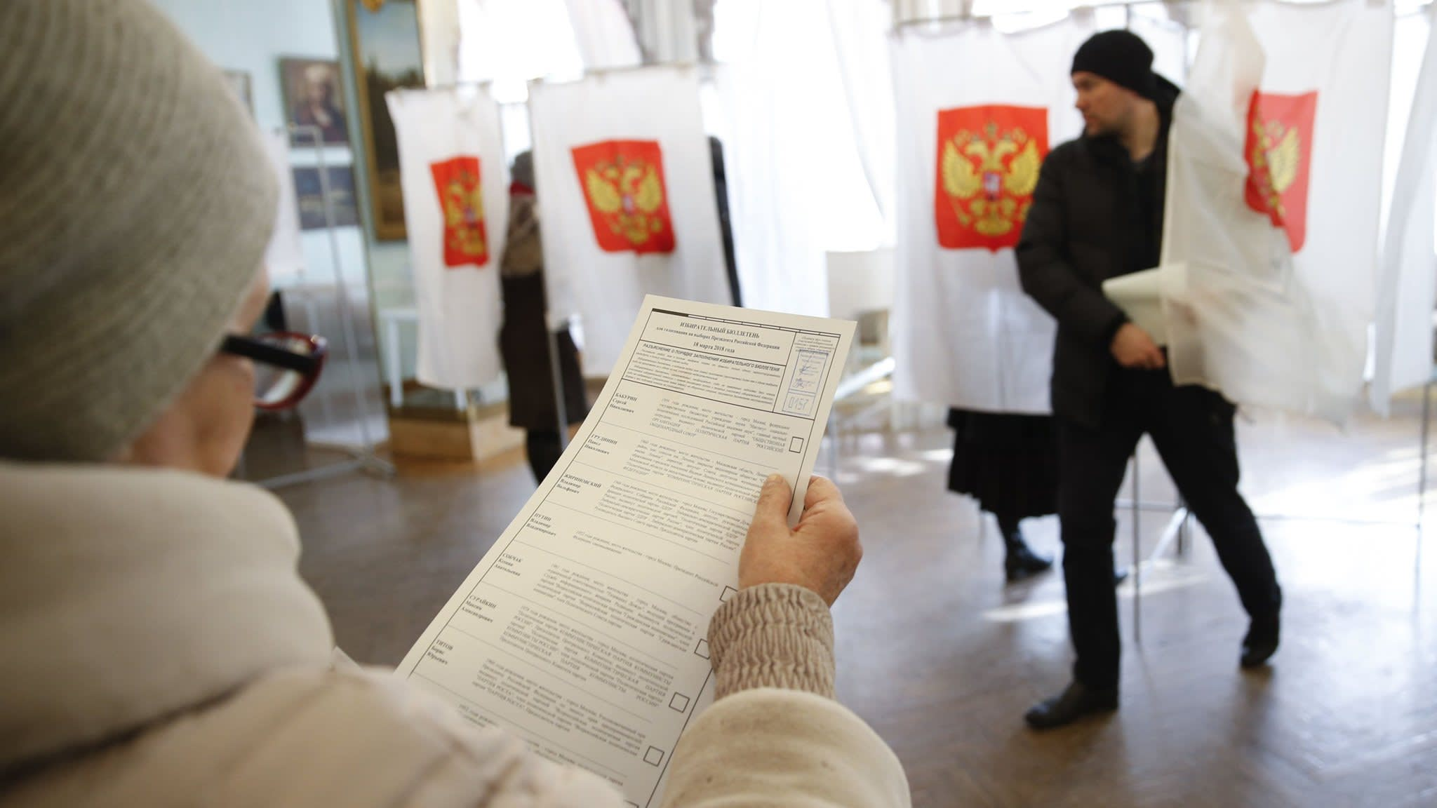 Russian election officials report high voter turnout