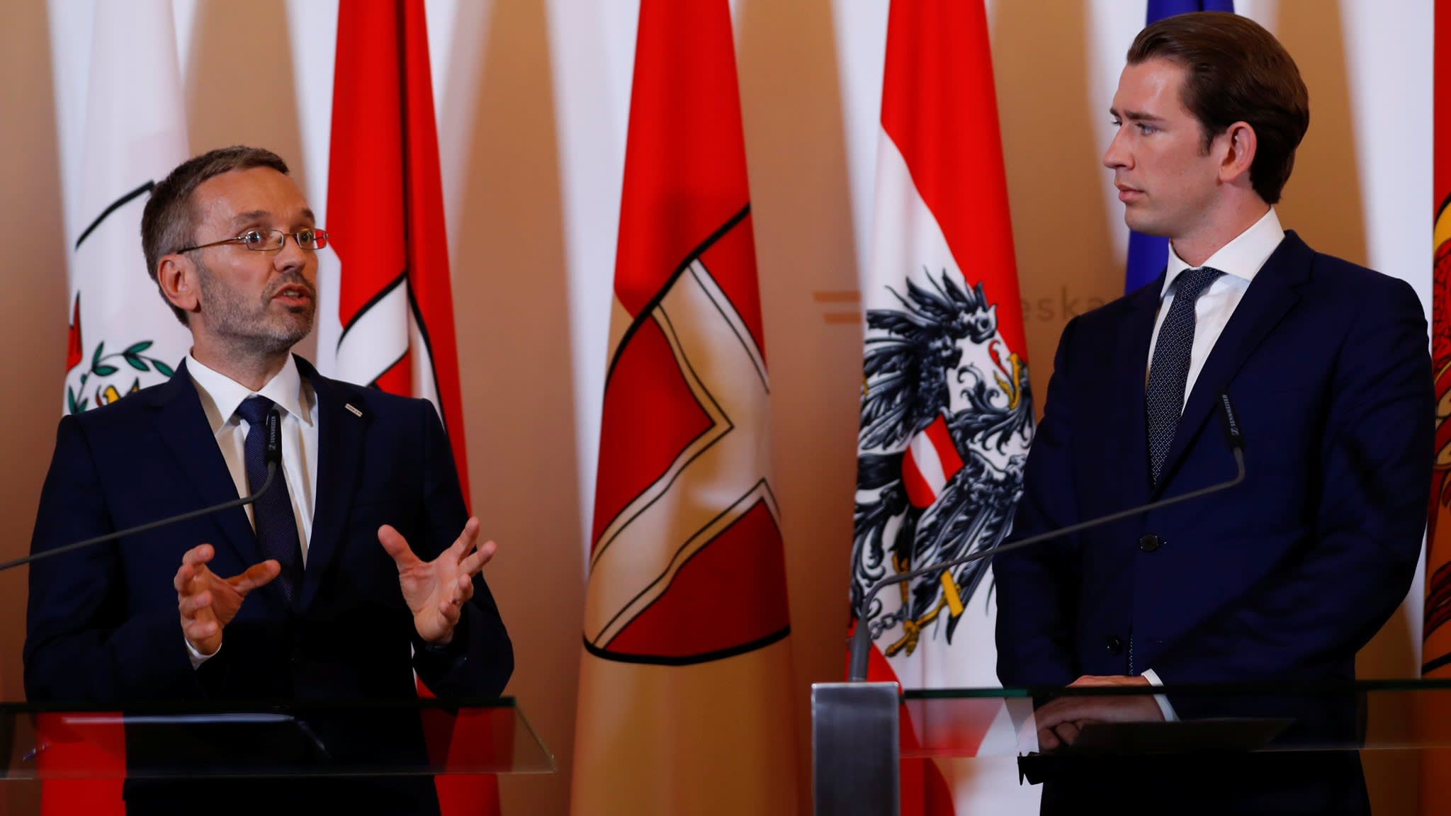 Austria's far-right minister tests coalition amid press-curb fears