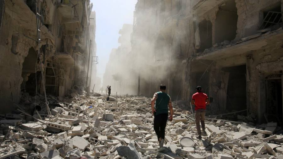 Russia accused of supporting 'barbarism' over Syrian