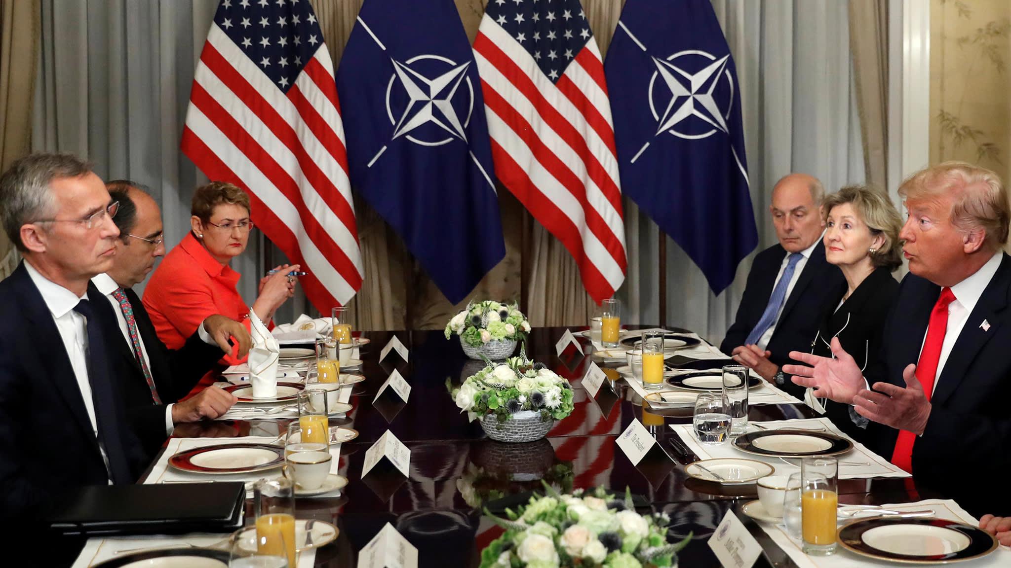 Nato members keep wary eye on Trump's mood