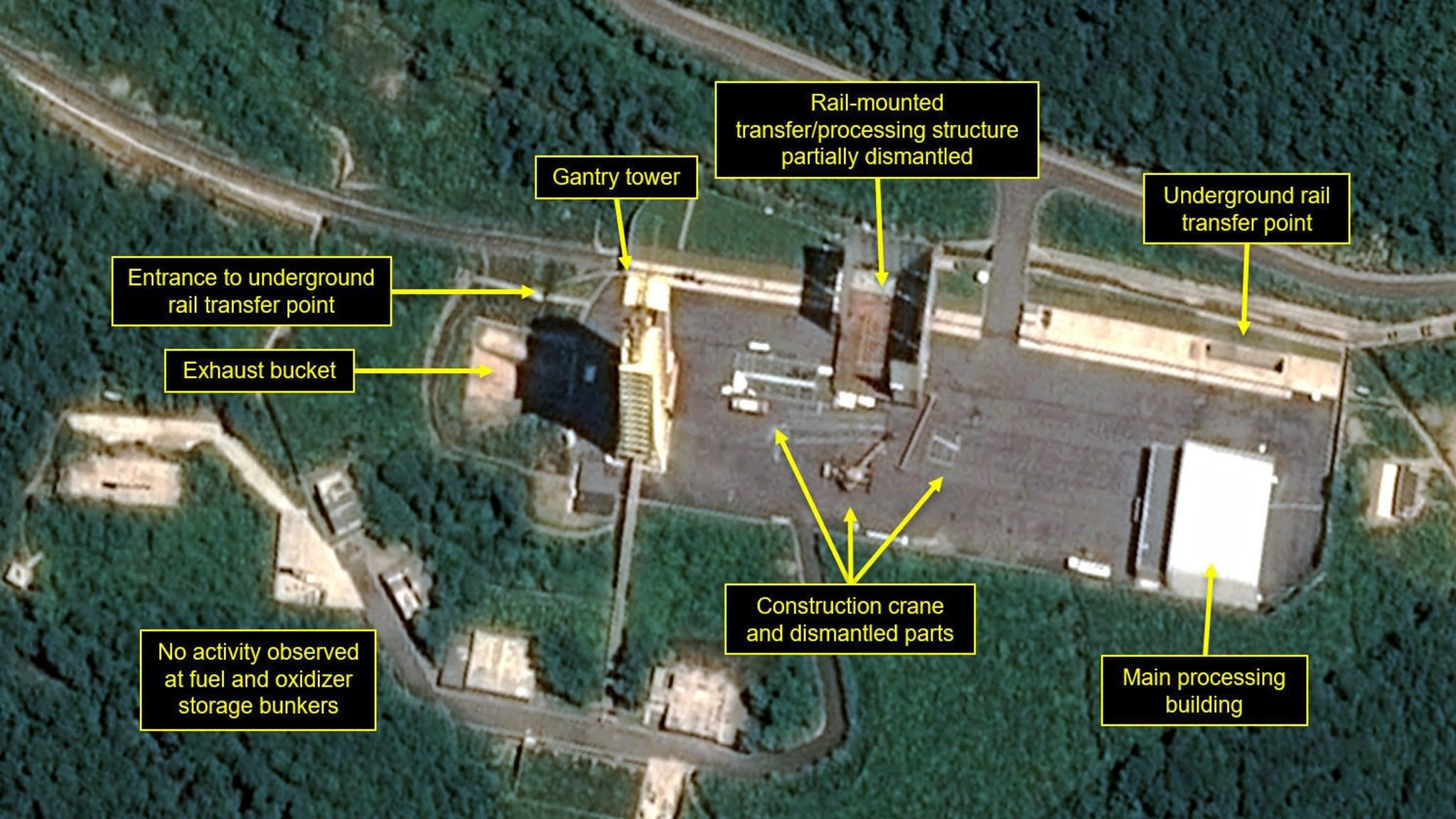 North Korea seen dismantling missile launch facility