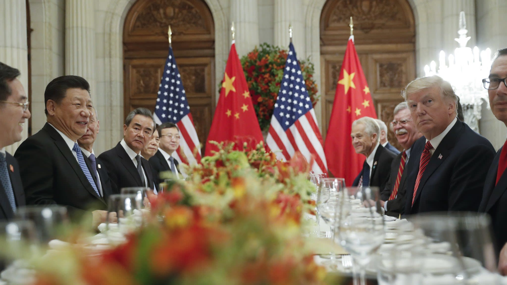 Trump and Xi upbeat as they enter crucial trade meeting