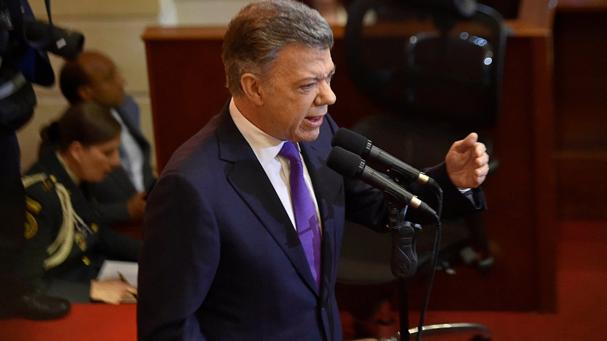Farc members take seats in Colombia's congress for first time