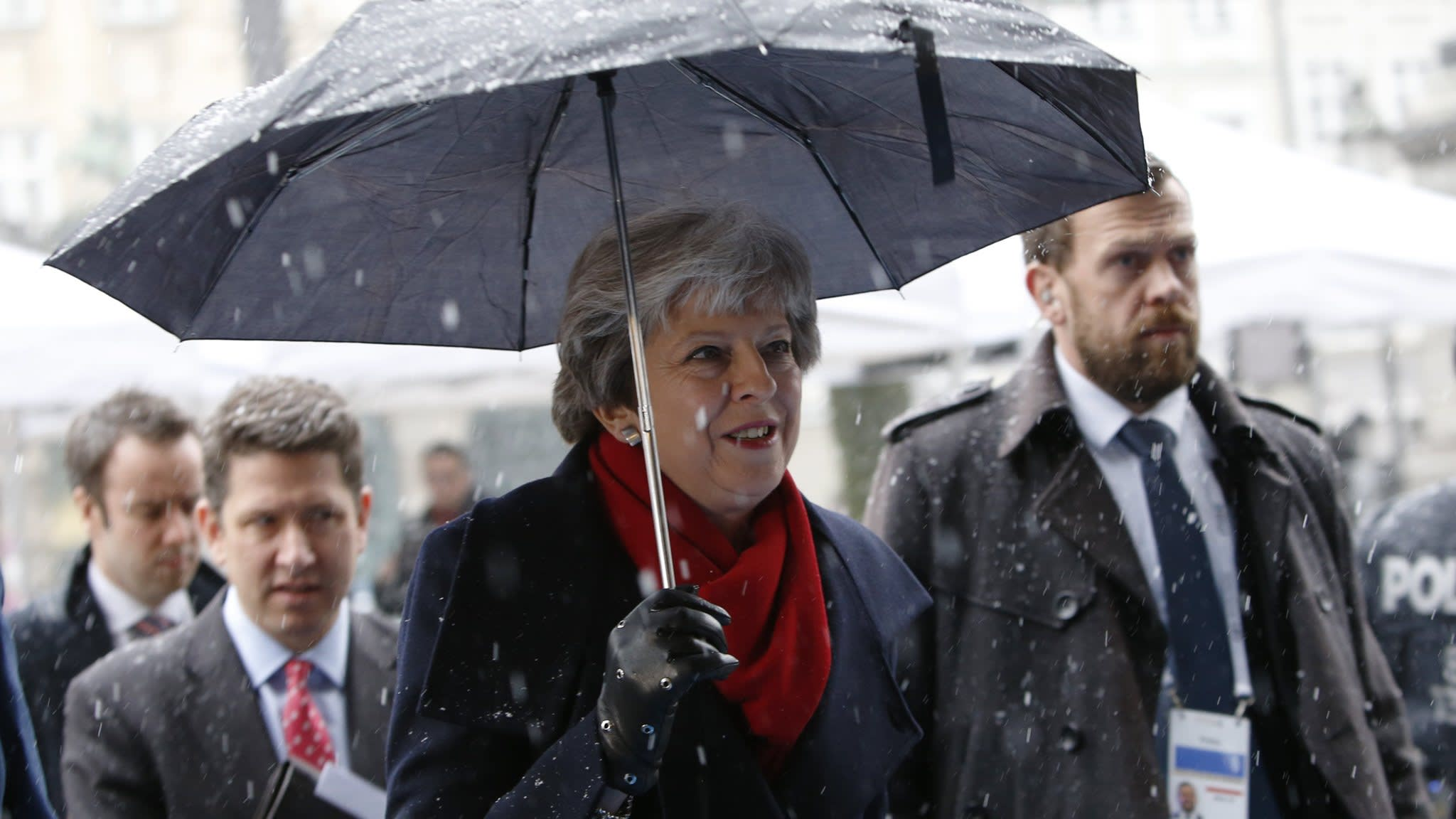 May gives credible but uncompelling view on post-Brexit defence