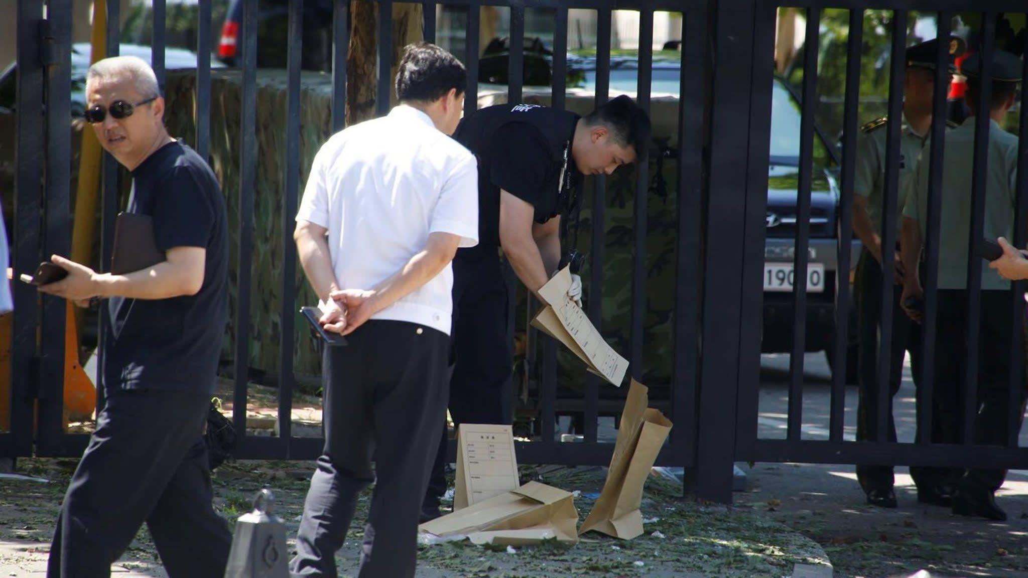 Bomb explodes near US embassy in Beijing