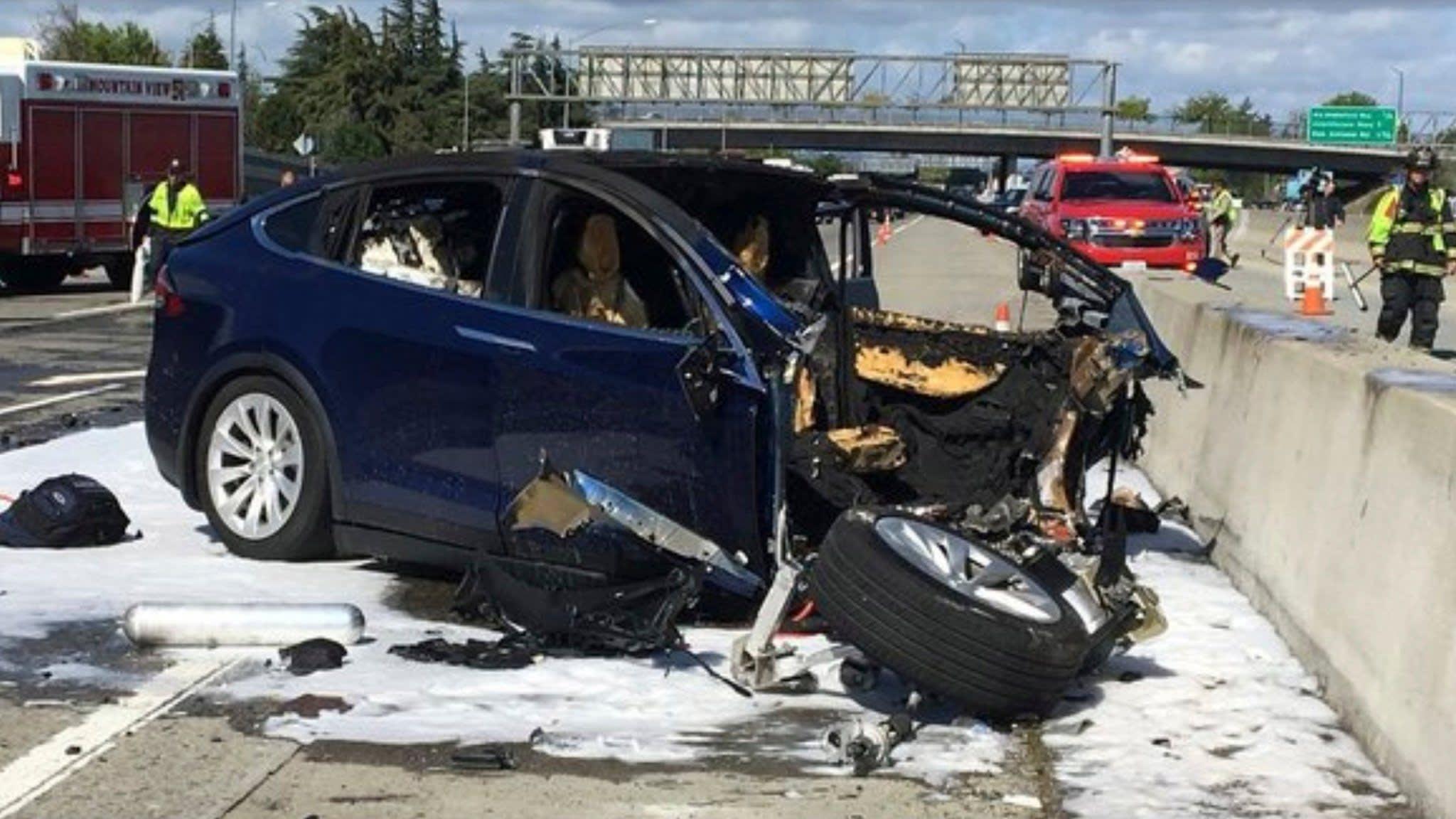 Tesla shares plunge after regulator's rebuke over fatal crash