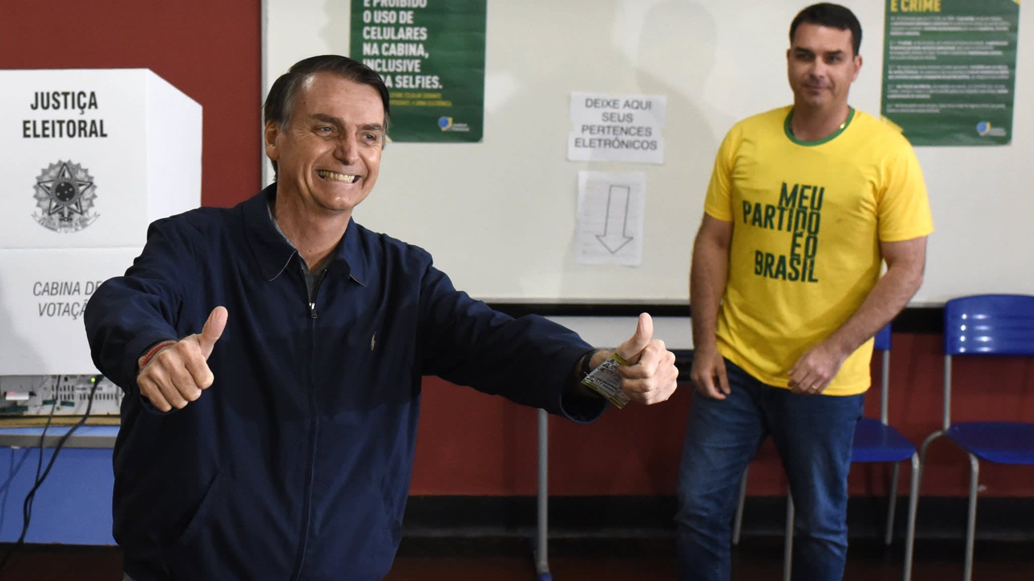 After victory, Brazil's rightwing Bolsonaro looks to centre in bid for votes