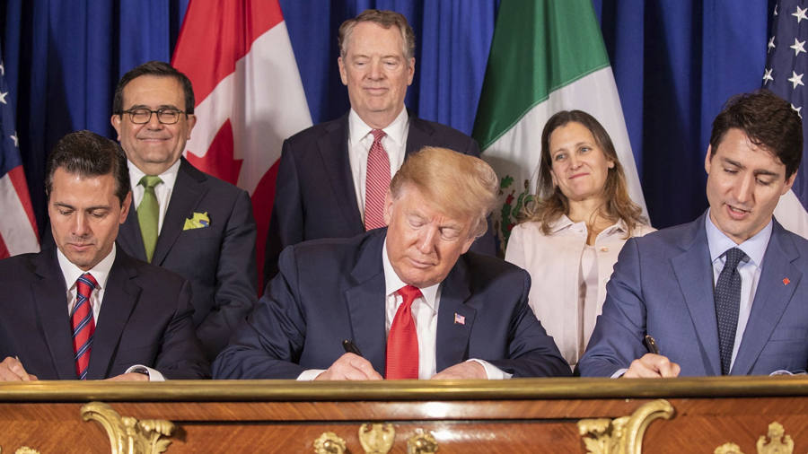 US, Canada and Mexico sign deal to replace Nafta