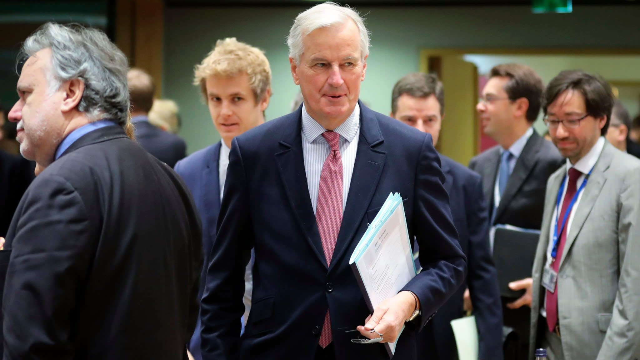 Barnier says Brexit treaty text almost ready