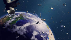 Illustration image for: Companies vie to develop ways to dispose of space junk