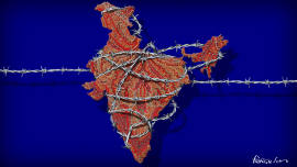 Illustration image for: India is facing twin economic and political crises