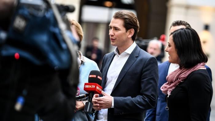 Austrian leader Kurz holds coalition talks with far-right