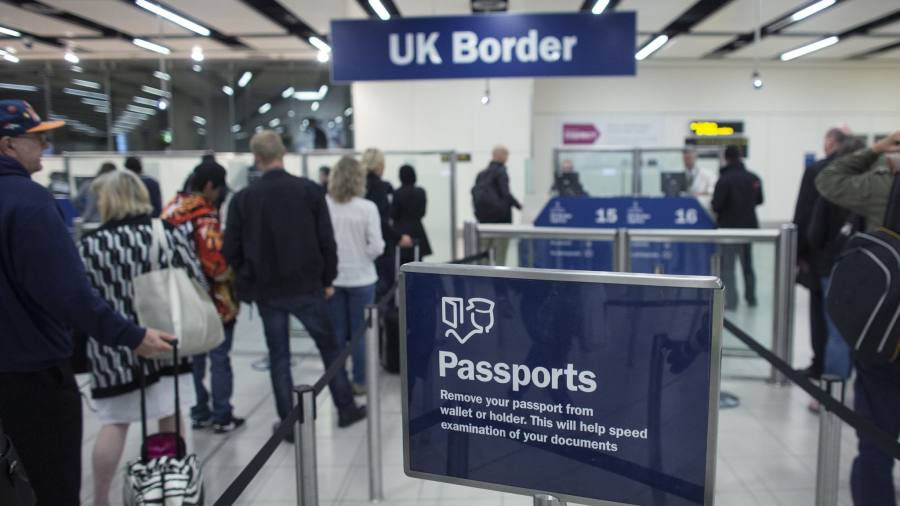 airport queues highlight uk's border problems ahead of