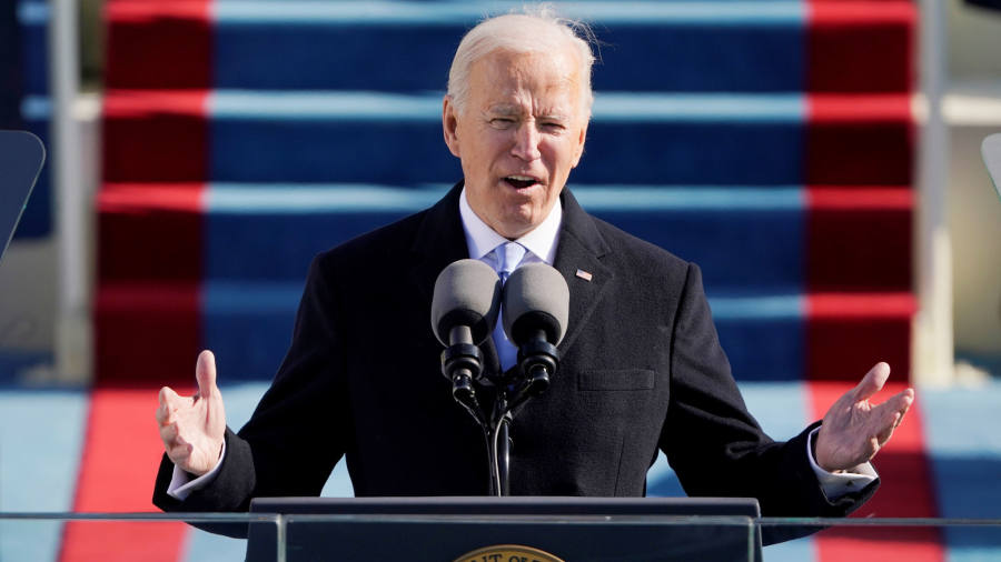 Biden inauguration speech live: 46th president calls for end to 'uncivil war'