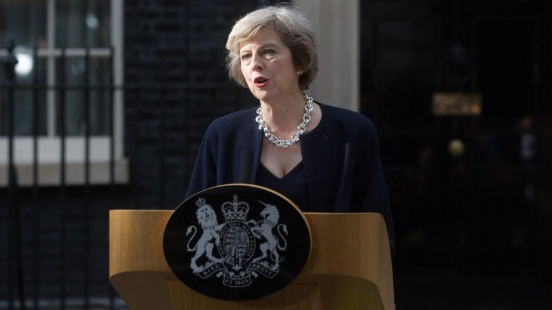 Image result for Theresa May, stood on the steps of Downing Street and announced that 'enough is enough'.