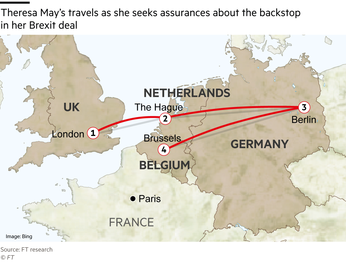G3009_18X  May's travels as she seeks assurances about the backstop in her Brexit deal. map